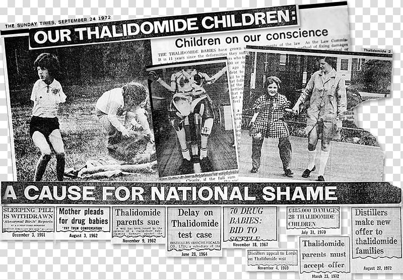 Thalidomide Journalist The Sunday Times Scandals in History.