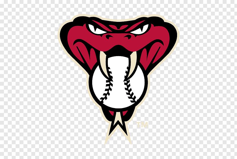 Mlb Logo, Arizona Diamondbacks, Sedona Red, Baseball, Decal.