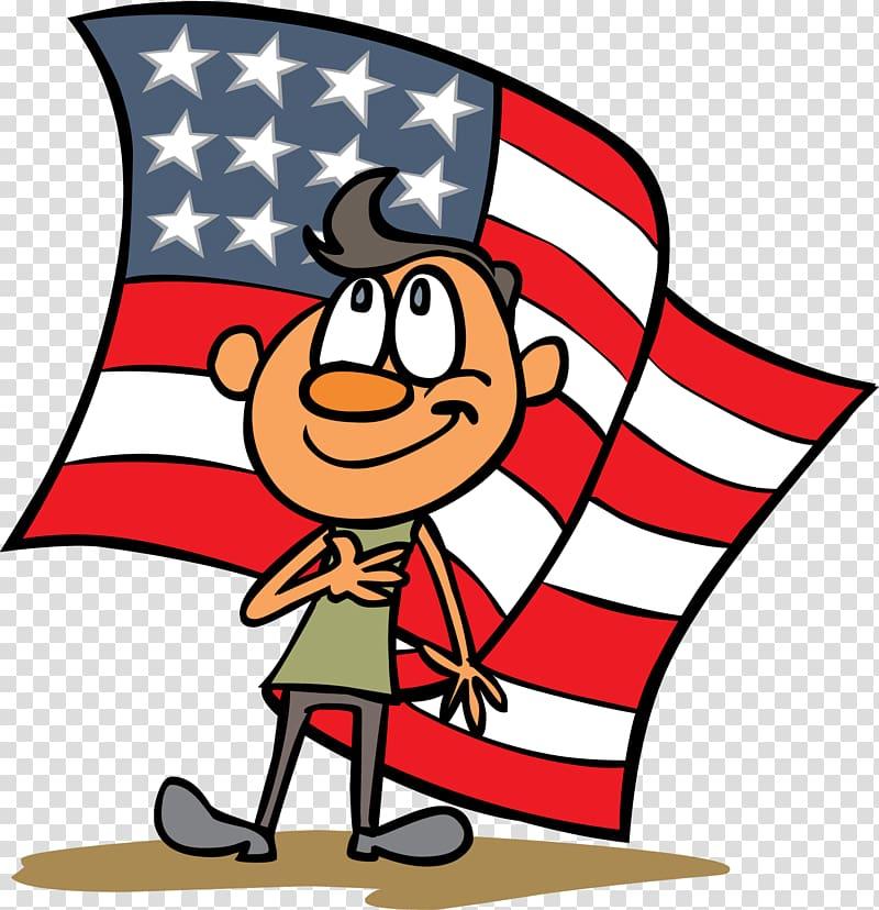 Pledge of Allegiance Cartoon , Independence Day transparent.