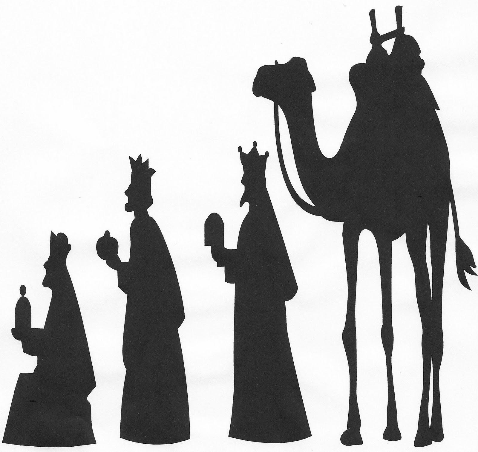 clipart nativity scene silhouette clipground