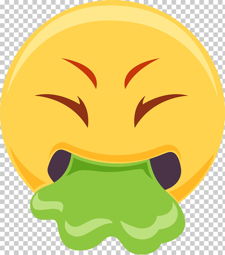 Emoji Nausea Vomiting Smiley, Vomiting, nausea, Emoji, emoji.