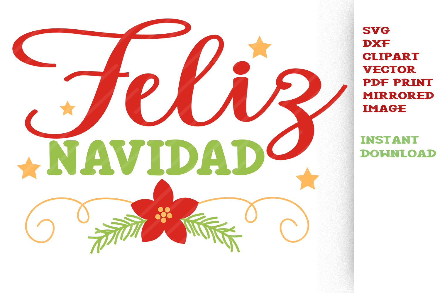 Feliz Navidad SVG Cut files Clipart Vector Christmas svg.