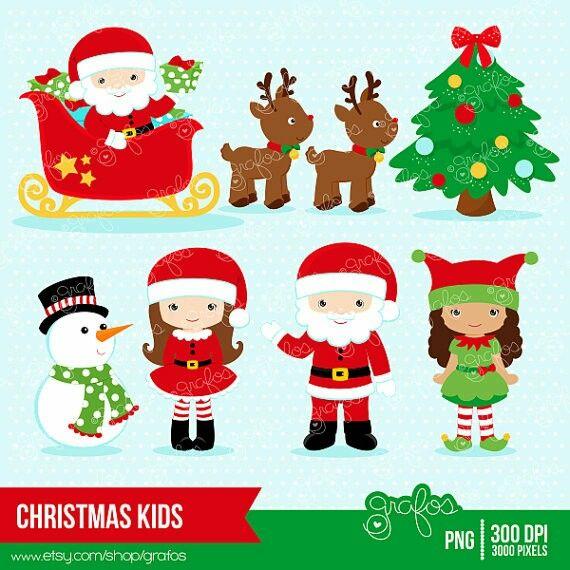 Christmas clipart Navidad vectores.