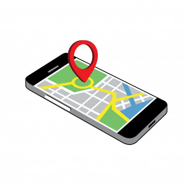 Phone navigation clipart vector Vector.