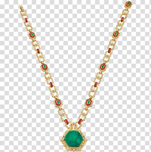 Earring Pendant Necklace Jewellery Chain, Emerald Necklace.