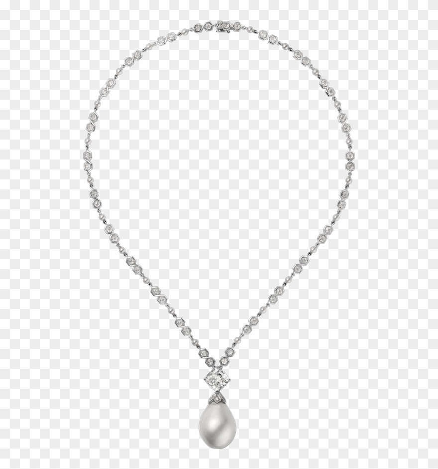 Pearl Clipart Diamond Necklace.