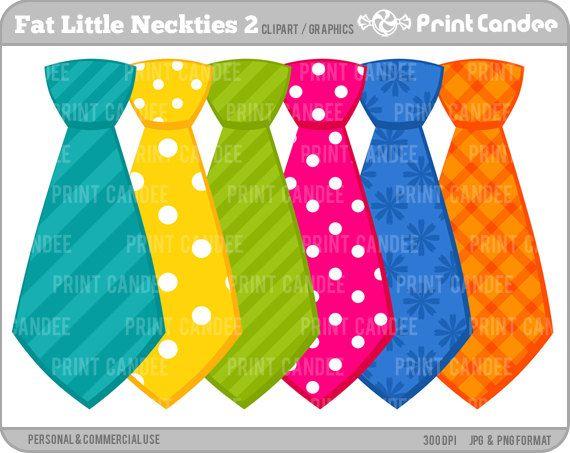 Fat Little Neckties 2 Digital Clip Art Personal by.