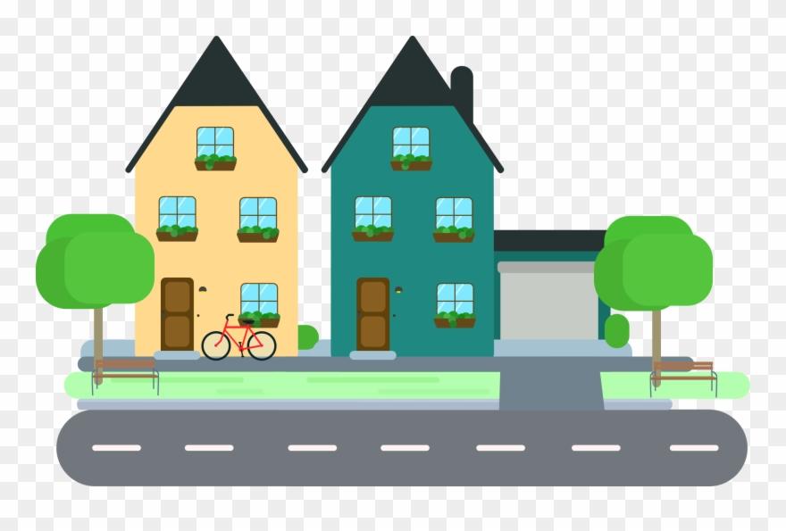 Sensational Design Neighborhood Clipart House Clip.