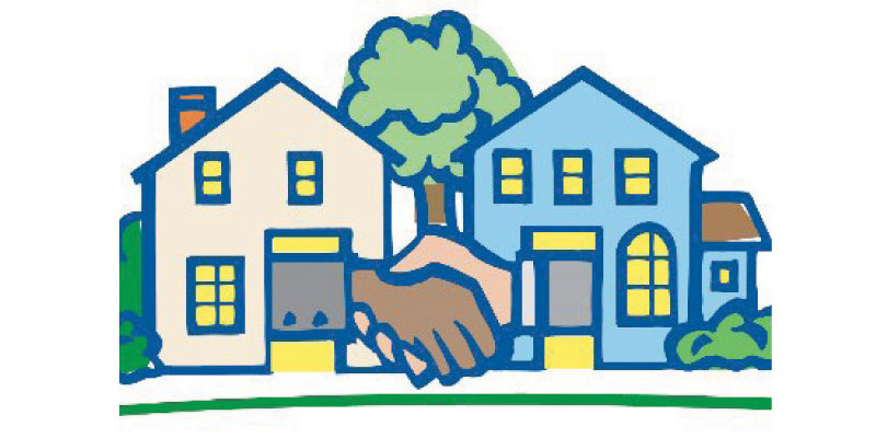 Neighbors clipart many house, Neighbors many house.