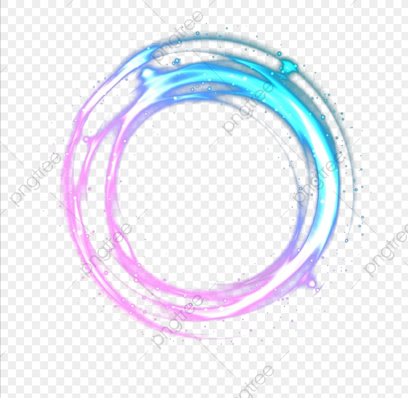 Round Neon Effect, Color, Round, Frame PNG Transparent Clipart Image.