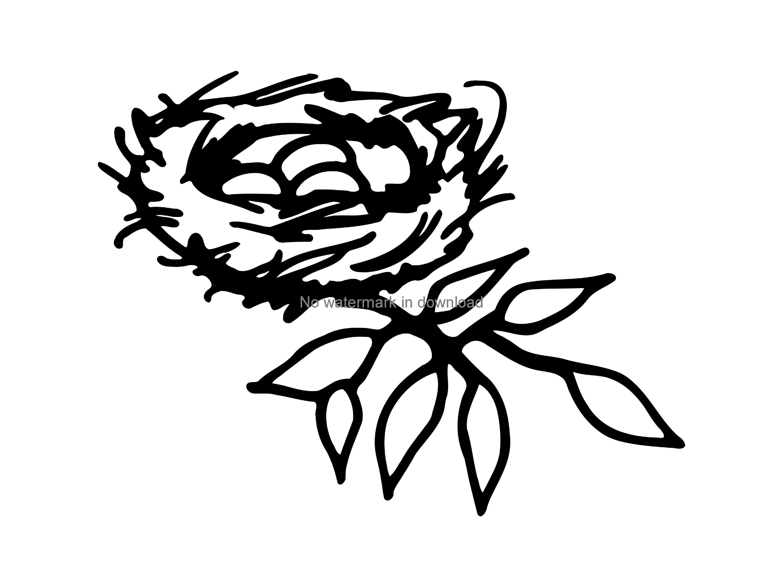 Nest Clip Art, Bird Clipart, Printable Bird Nest, Spring Clipart, Nature  Clipart, Nest Clip Art, Bird Nest Vector, Png Dxf.