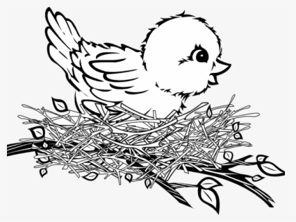 Free Nest Black And White Clip Art with No Background.