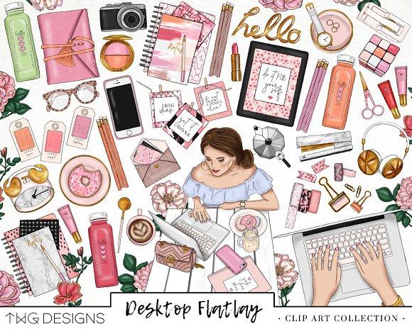Girlboss Fashion Girl Clip Art.