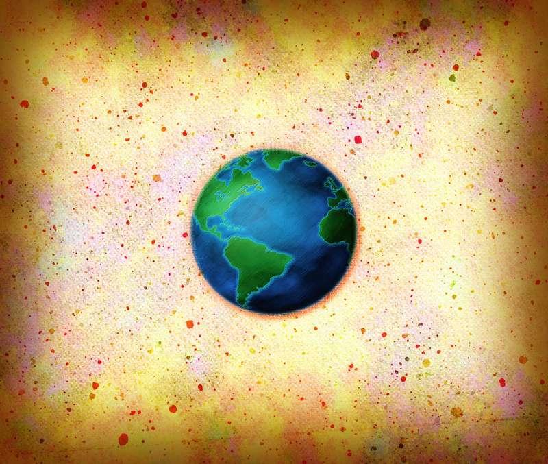 Земной шар.