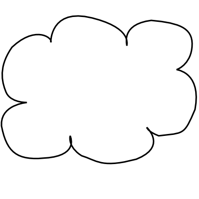 Free Clipart of Network Cloud.
