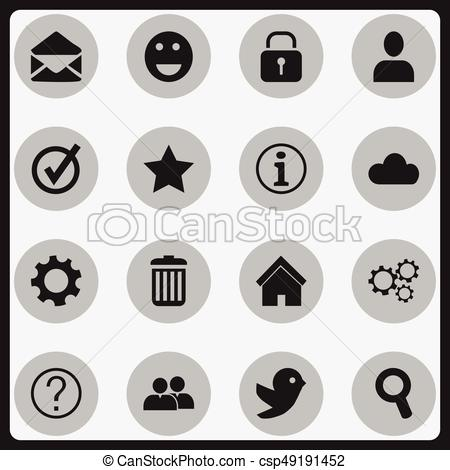 Set Of 16 Editable Network Icons. Includes Symbols Such As Dove, Faq,  Bookmark And More. Can Be Used For Web, Mobile, UI And Infographic Design..