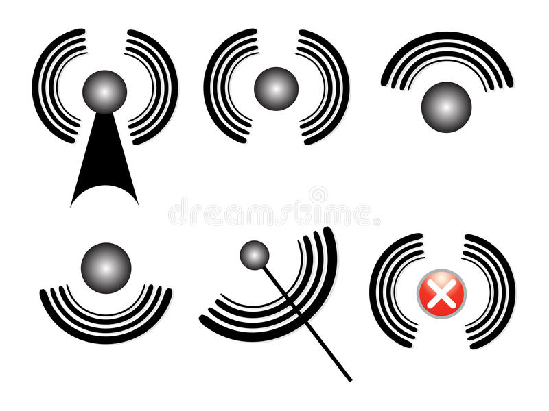 Network Symbols Stock Illustrations.