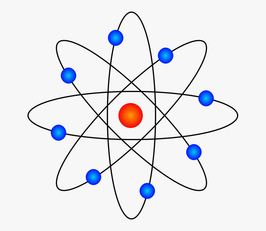 Atom Neutron Nucleus Protron Electron Science.