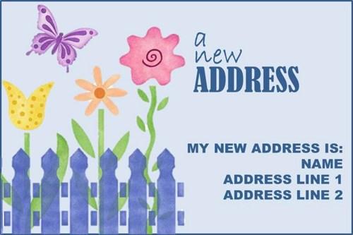 Address Change Announcements Clipart.