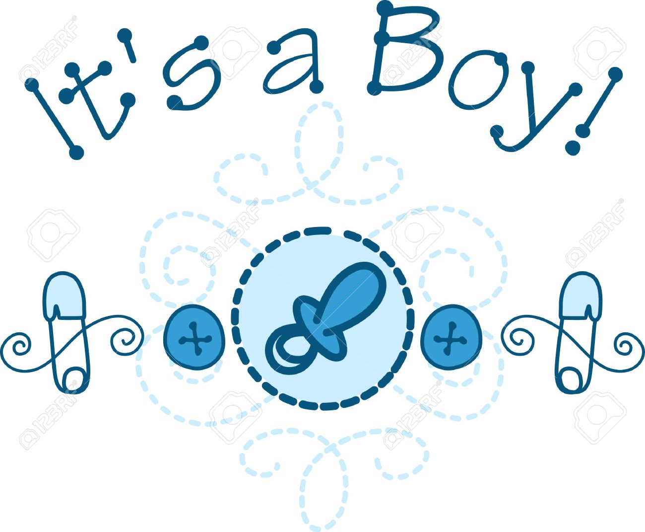 Welcome the new baby boy with this cute design of baby necessities.