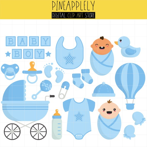 Baby Boy Things, Little One, Baby Shower, New Born Digital Clip Art For  Planner Stickers, Scrapbooking, Journal, Art Pieces.