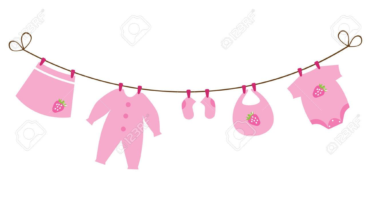 newborn baby girl clothes with strawberries.