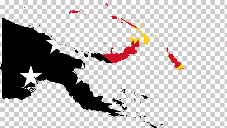 Flag of Papua New Guinea Map, papua new guinea PNG clipart.