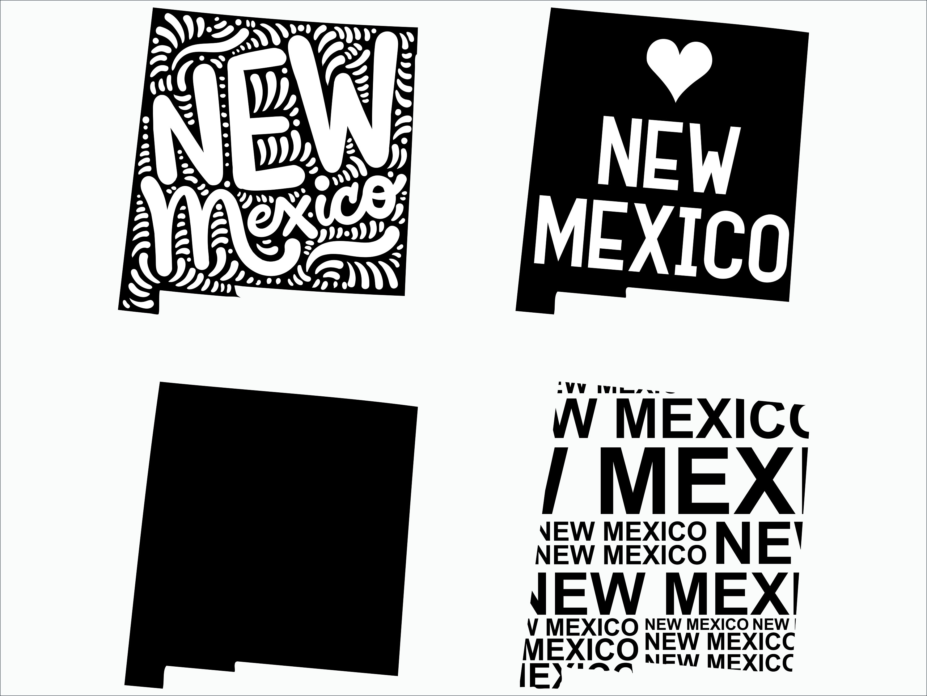 New Mexico SVG/ New Mexico clipart/ New Mexico state svg/ Cricut /  printable / silhouette / vinyl decal / vector files for cutting machines.