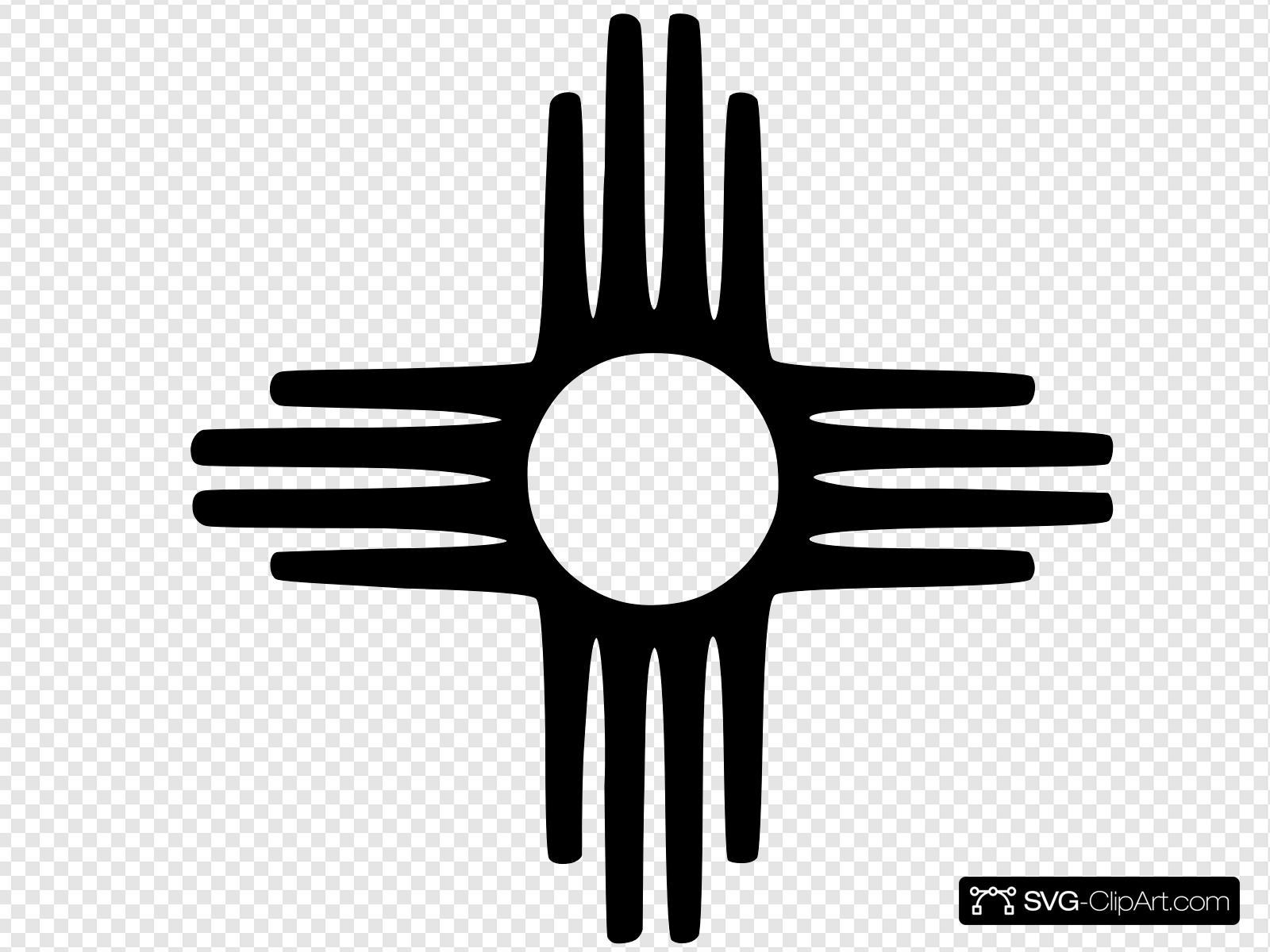 New Mexico Zia By Nicola Clip art, Icon and SVG.