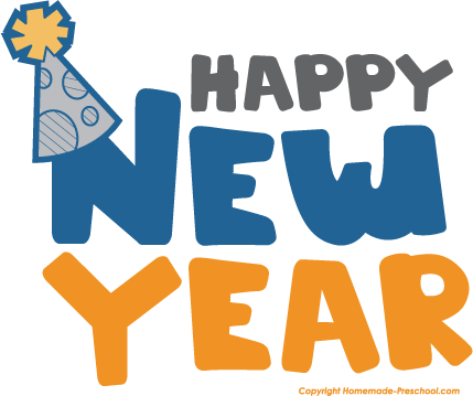 Happy New Year Clipart For Kids and Adults.