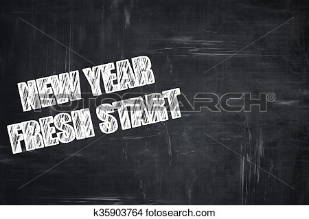 New Year Fresh Start Clipart Black And White.