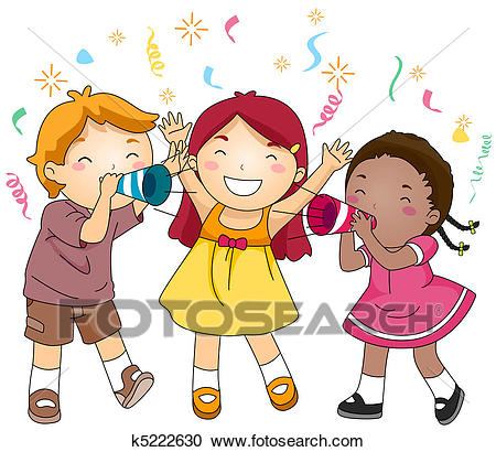 New Year Party Clipart.