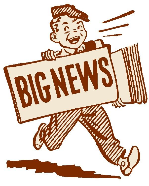 Big News Update Clipart.