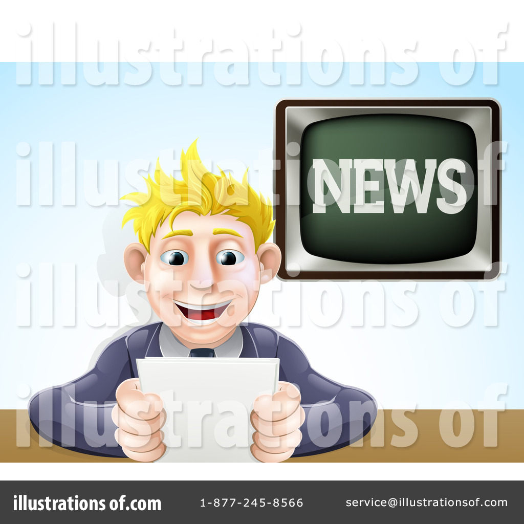 News Anchor Clipart #1179803.