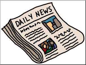 Clip Art: Newspaper Color 1 I abcteach.com.