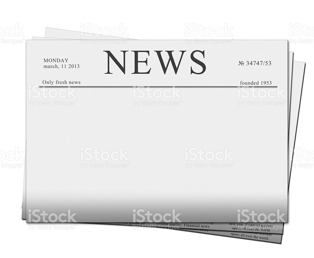 Blank Newspaper Headline Clipart.