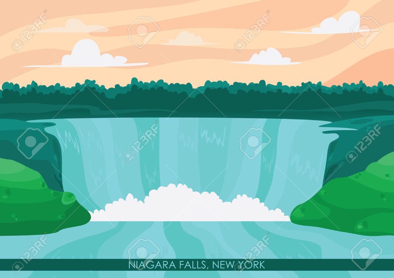 Niagara Falls Wallpaper Royalty Free Cliparts, Vectors, And Stock.