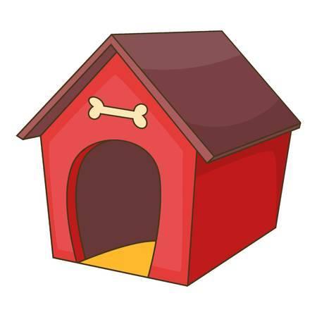 Doghouse clipart niche.