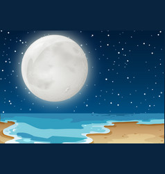 Beach Clipart Night Vector Images (61).