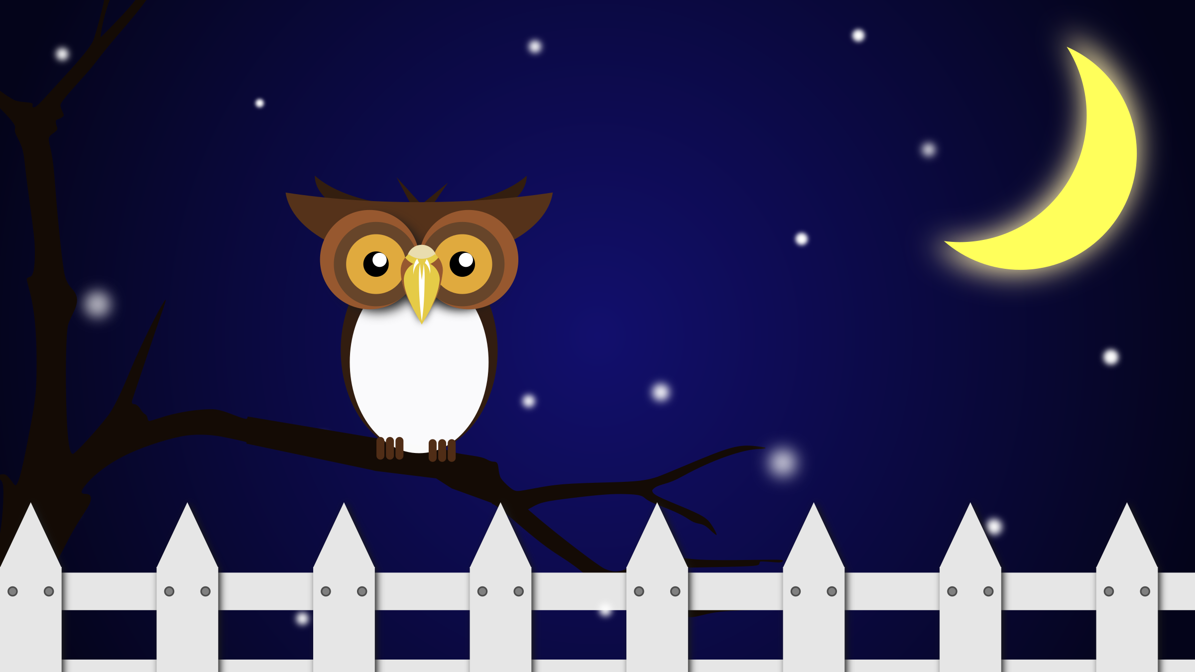 Night Owl Vector Clipart image.
