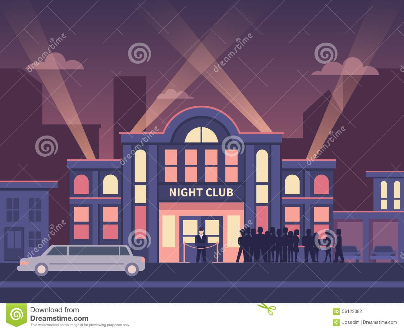 Nightclub Building Clipart.