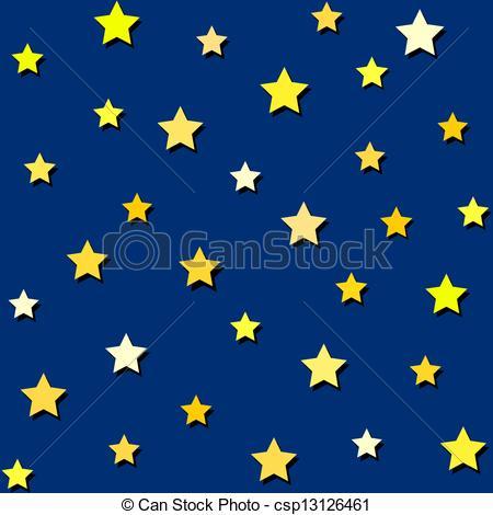Clipart Night Sky Stars.