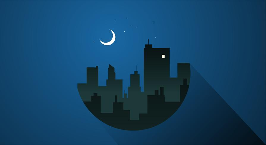 City night time vector.