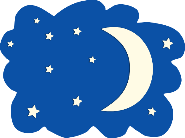 Moon Night Time Clipart.