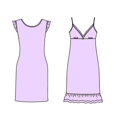 76 Nightie Nightdress Cliparts, Stock Vector And Royalty Free.