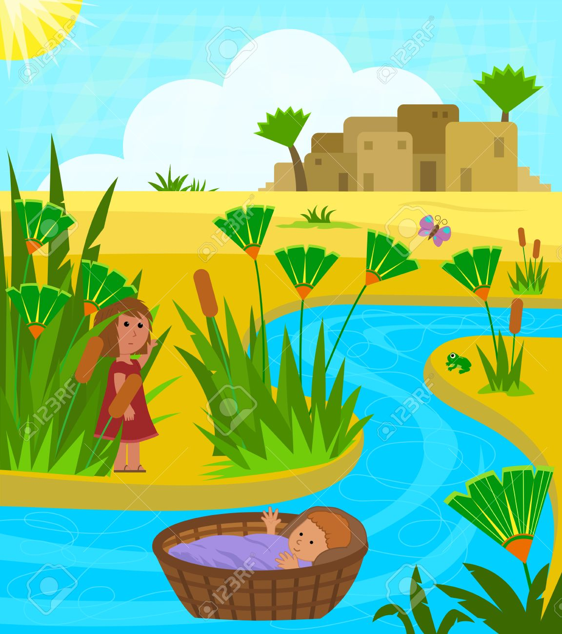 The Nile River Clipart.