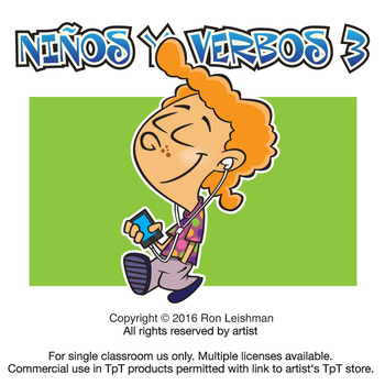 Ninos Y Verbos Cartoon Clipart Volume 3.