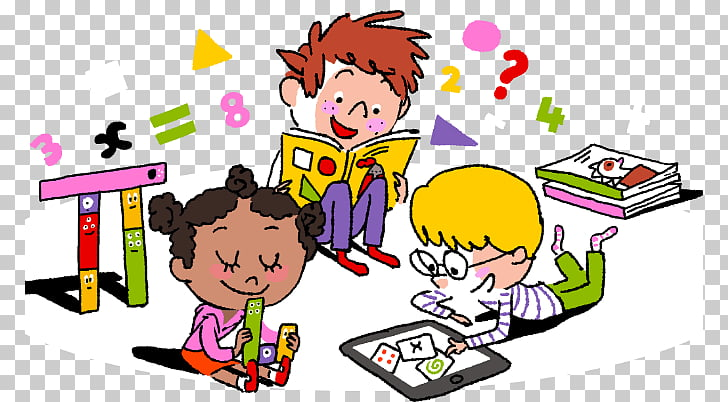 Educación matemática infantil, niños aprendiendo PNG Clipart.
