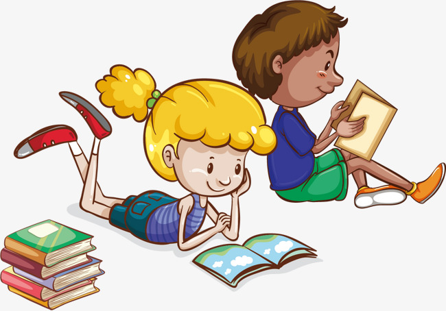 Children Reading Clipart Png.