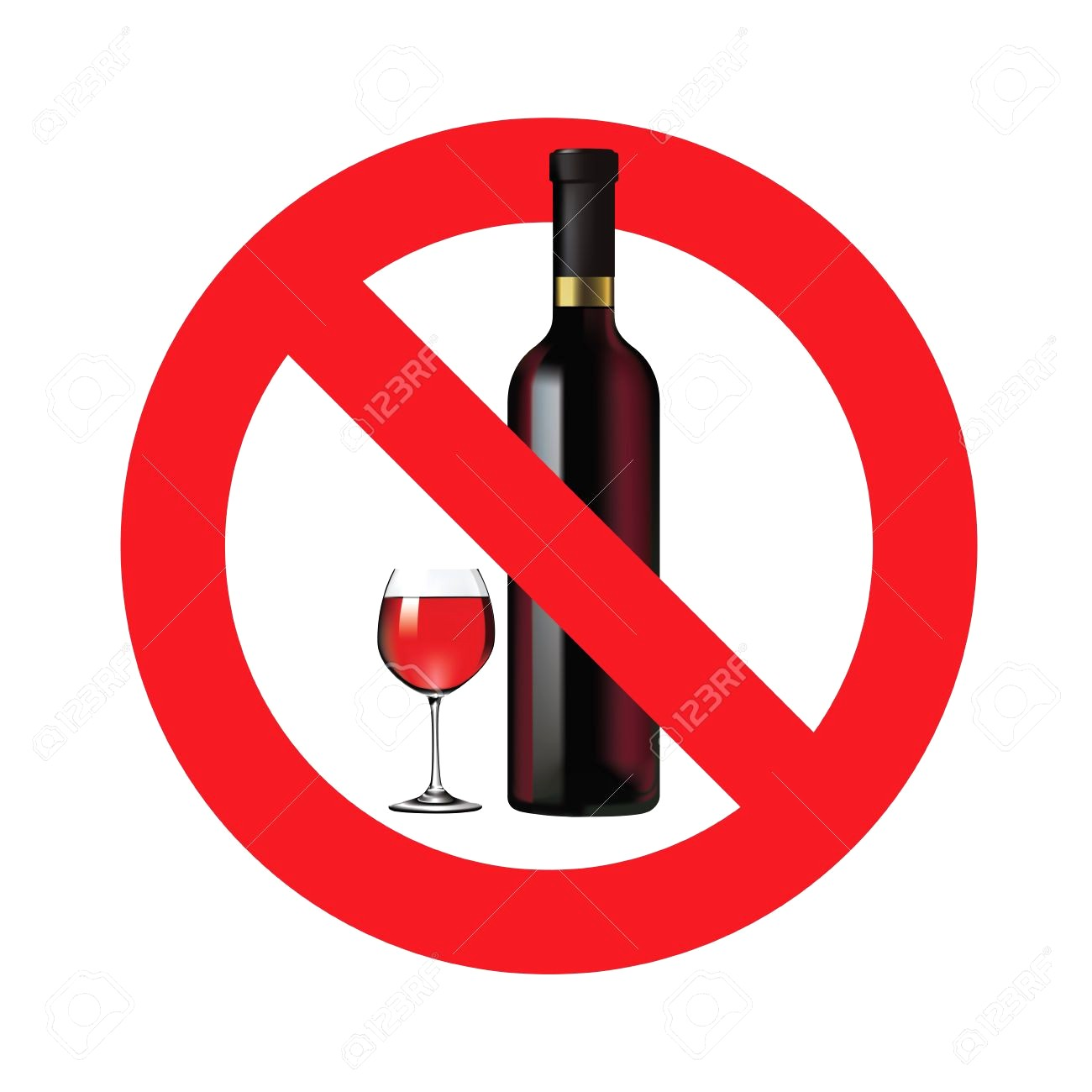 No alcohol clipart 4 » Clipart Station.